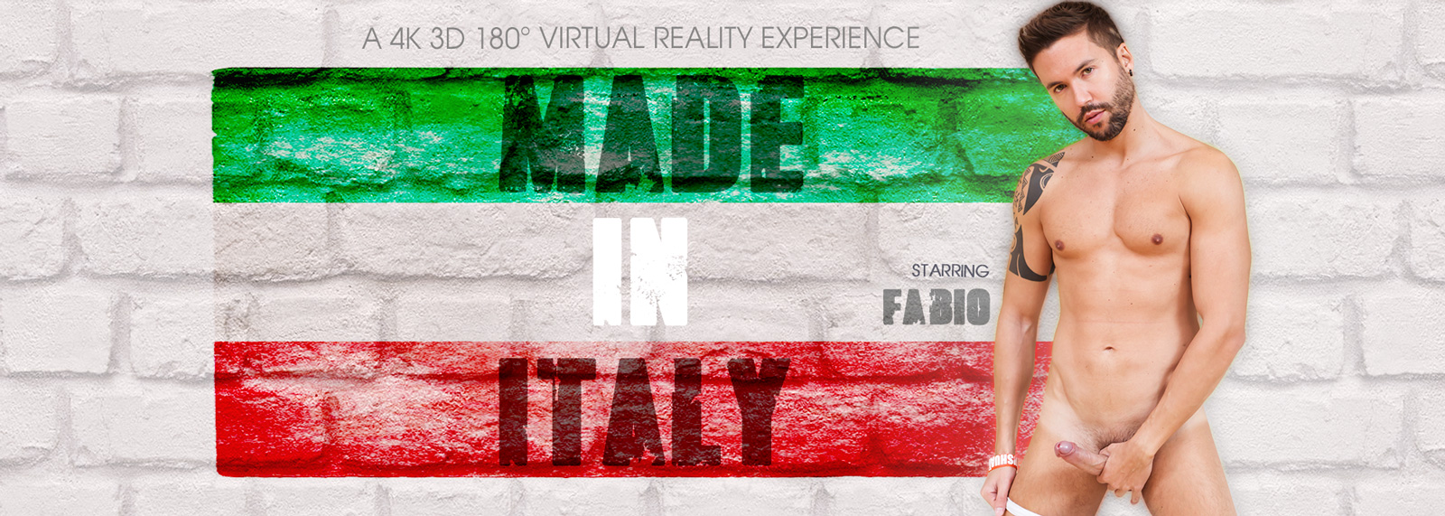 Made in Italy - VR Porn Video, Starring Fabio