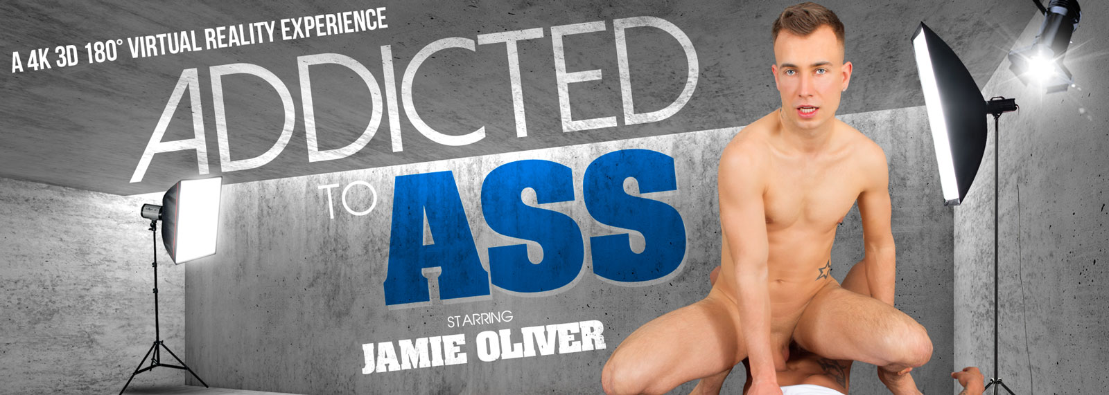 Addicted to Ass - VR Porn Video, Starring Jamie Oliver